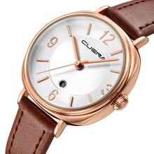 Cuena marca relojes mujeres de moda de lujo señoras reloj de cuarzo reloj de cuero casual relojes mujer montre Femme Relogio feminino