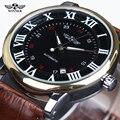 Vencedor Relógio Mecânico Calendário Relógio Automático de Couro Preto de Alta Qualidade Homens Esportes Relógios Masculino relógio Relogio masculino Esportivo