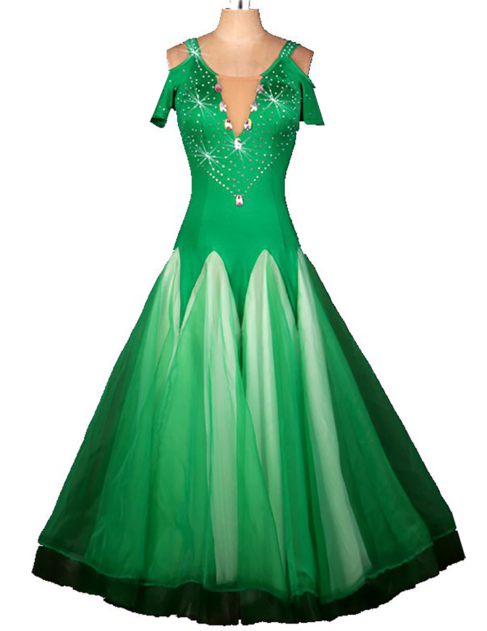 US $64.08 28% OFF|plus size green rhinestone Tassel Ballroom dancing  dresses Viennese standard ballroom dance dress ladies ballroom dance  dresses-in ...
