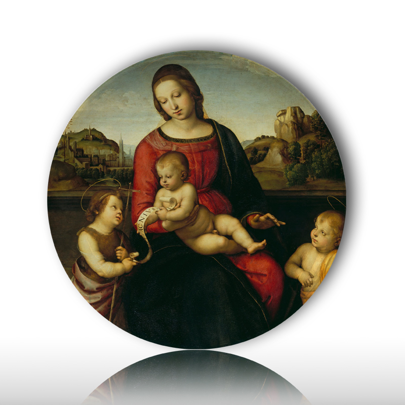 Best selling ceramic plates of famous painter Rapheal Virgin Mary - Home Decor