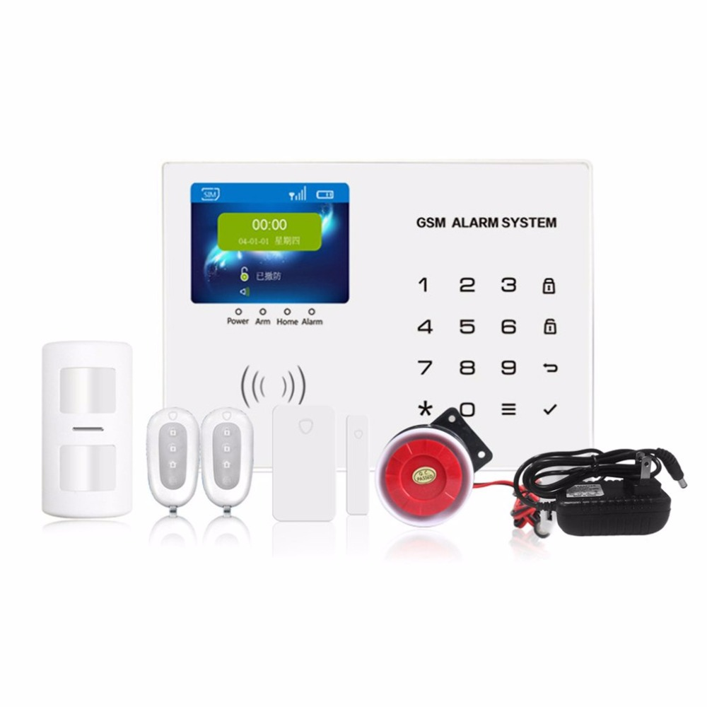 Functional TET 2.8 Colorful Screen Ultra Thin Smart GSM Alarm G65 Kit Home Security Burglar Alarm System APP Remote ControlFunctional TET 2.8 Colorful Screen Ultra Thin Smart GSM Alarm G65 Kit Home Security Burglar Alarm System APP Remote Control