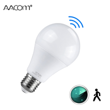 רדאר חיישן אמפולה LED E27 אור הנורה 10 W 15 W 20 W 220 V LED Didoe זרקור לילה מנורה עם PIR Motion חיישן עבור מסדרון