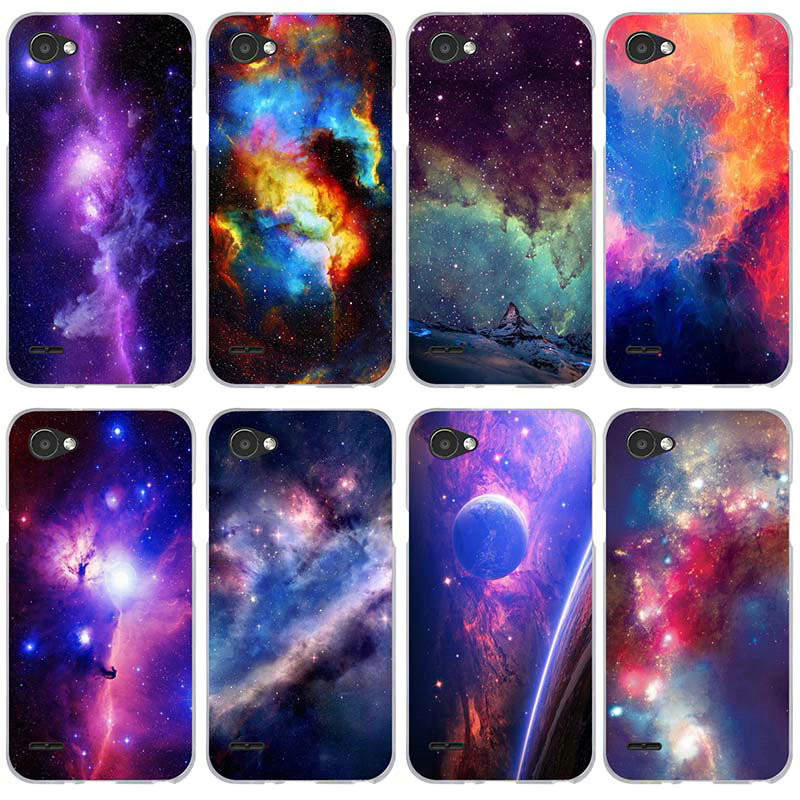 For LG V10 V20 V30 G2 G3 Mini G4 G5 G6 K4 K7 K8 K10 2017 Nexus 5 5X Shell Soft Phone Case Moon Universe Space Painting image