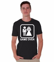 Summer Casual Funny Awkwardstyles Game Over T Shirt Funny Wedding Gift Shirt Cotton Tshirt