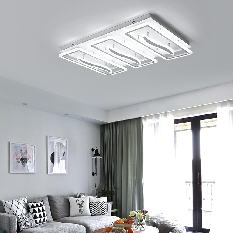 Modern Led Ceiling Lights For Living Bedroom plafon led Rectang Ceiling Lamp luminaria 110V 220V Lighting fixture home Art modern led ceiling lights for home lighting plafon led ceiling lamp fixture for living room bedroom dining lamparas de techo