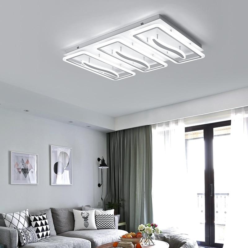 ჱmodern led ceiling lights for living bedroom plafon led rectang