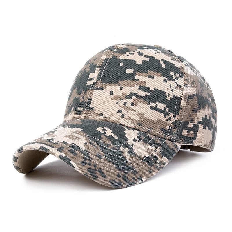 49e8a9f30 2019 Camo Baseball Caps Men Summer Mesh Cap Tactical Camouflage Hat For Men  Women High Quality Bone Masculino Dad Hat Caps