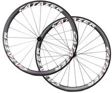 Road Bike 38mm Carbon Clincher Wheels Tubeless Ready Lightweight 700C Basalt Brake Surface 2 1 Anti