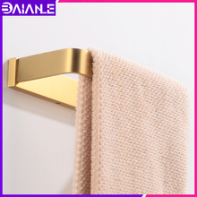 Towel Ring Gold Brass Towel Bar Holder Decorative Washroom Single Towel Rack Hanging Holder Wall Mounted Bathroom Accessories стоимость
