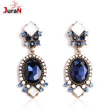 JURAN 2017 New Cartoon Dog Design 2 Colors Fahion Crystal Dangle Earrings Women Charm Accessory Luxury Jewelry Wholesale F1103