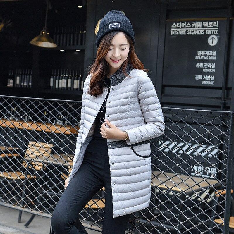 2018 Ultralight DownCoat Women Winter Jacket Women's Down Jackets  LongThin Down Coat
