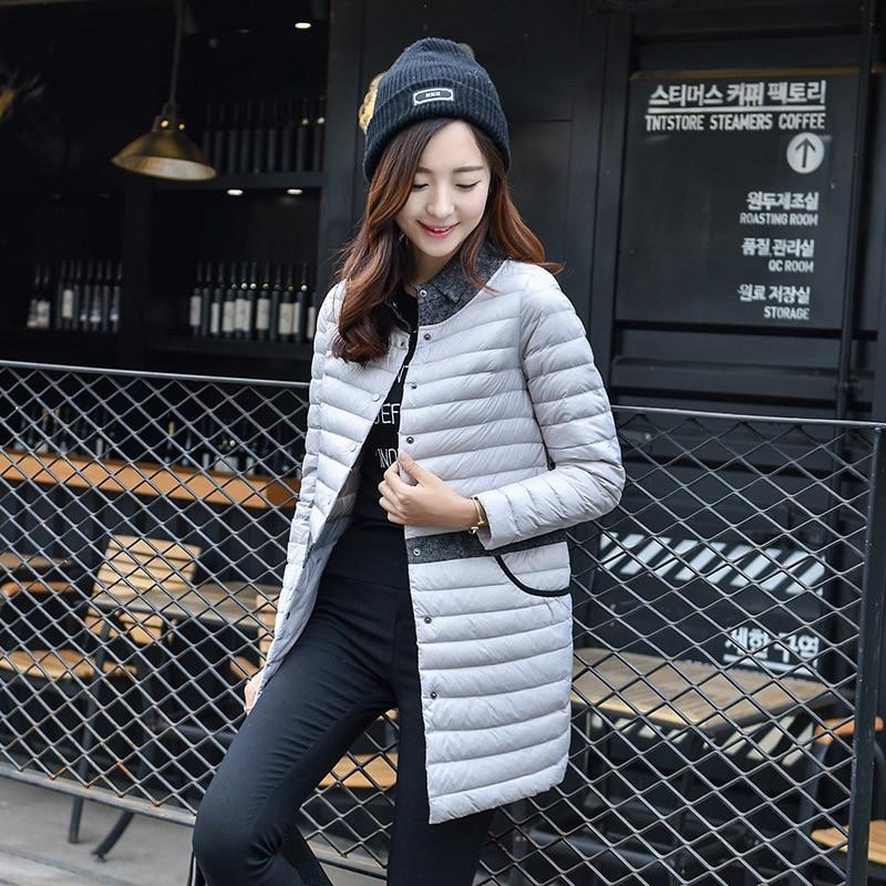 2019 Ultralight DownCoat Women Winter Jacket Women's Down Jackets  LongThin Down Coat