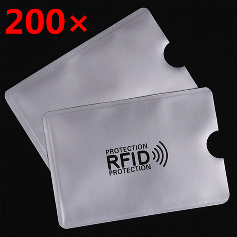 200 Pcs/set RFID 13.56mhz IC Card Protection NFC Security Card RFID Shielded Sleeve Card Blocking Prevent Unauthorized Scanning