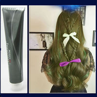 Havasız mavi Boya + Dioksijen Süt Renk Kalıcı Süper Boya Saç krem Saç Rengi toksik Olmayan DIY Saç Stili Gri Boyama 100 ml x 2