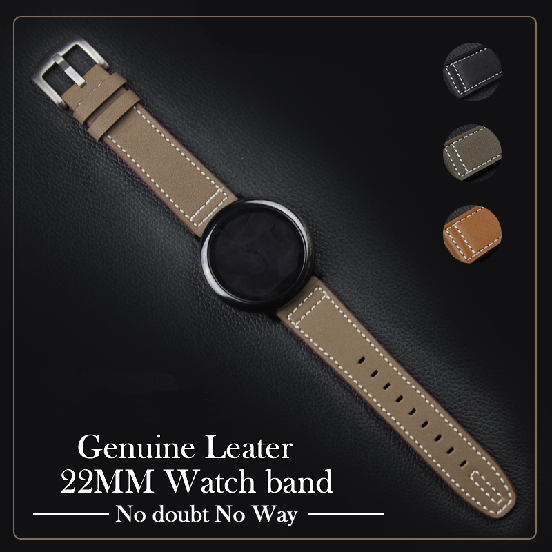 22mm Wrist Band For Huawei Watch 2pro Genuine Leather Watch Band Straps For Samsung Gear S3 Classic Frontier Huami Watch 1 2 genuine leather classic buckle watch straps wrist band for apple watch 42mm red