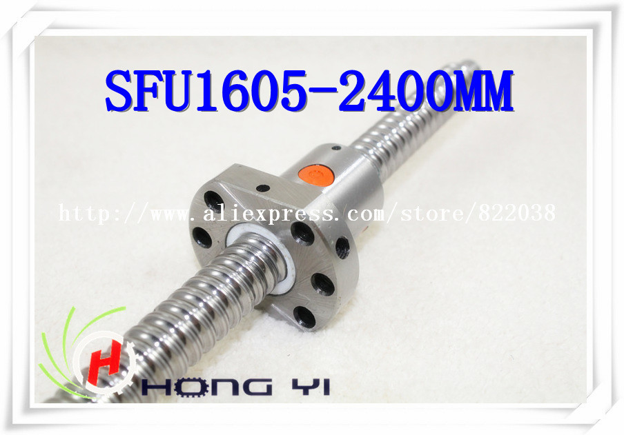 1 X SFU1605 L = 2400mm + 1pcs Ballscrew Ballnut for CNC and BK/BF12 standard processing top best price 1pcs ball screw sfu1605 l2550mm 1pcs rm1605 ballscrew ballnut for cnc and bk bf12 standard processing