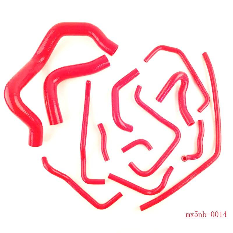 for Racing Mazda MX5 Miata MK2 MK2 5 1 8 Silicone Coolant Breather Hose Kit