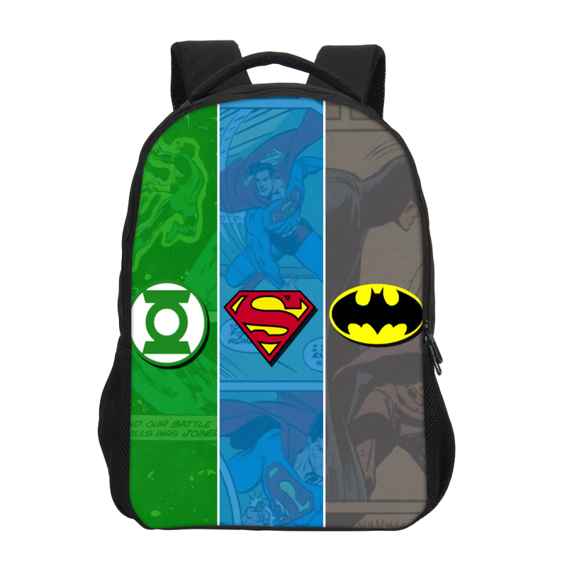 Veevanv Batman Prints Super Hero Men Laptop Backpacks Children School Bookbag Fashion Boys Shoulder Bags Cool Teenagers Mochila