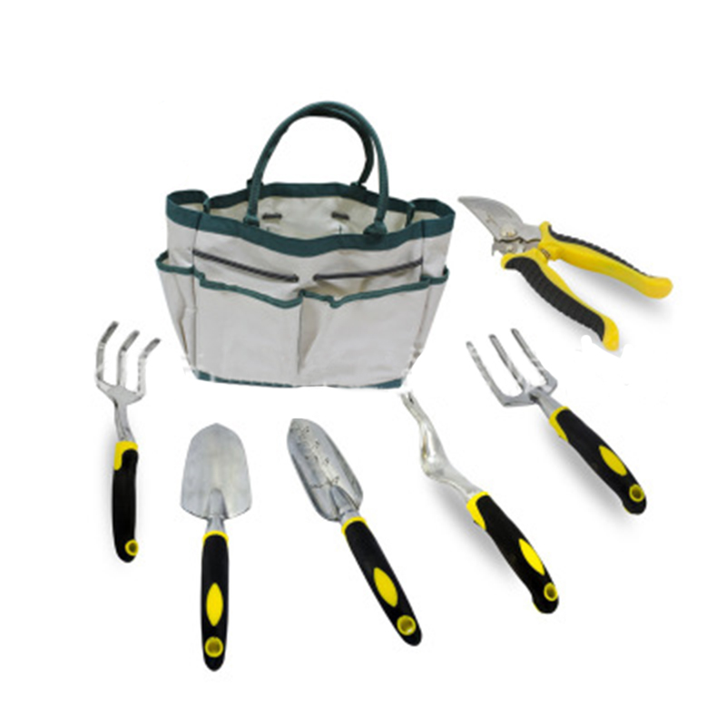 MX DEMEL 7 in 1 Multipurpose Gardening Tools Set for Men / Women Aluminum Alloy Gardening Tools Canvas Bag