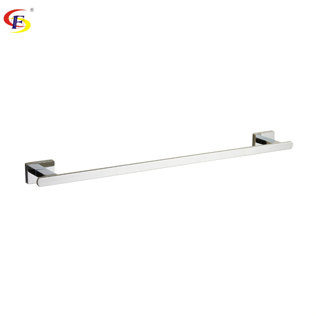 anju zinc material wall mounted bathroom accessories towel holder hotel towel bar chrome towel rail towel - Bathroom Accessories Towel Rail