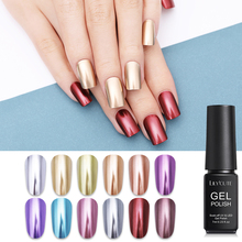 LILYCUTE 7ml/5ml Metallic Gel Nail Polish Silver Rose Gold Long Lasting Nails Soak Off Art UV Varnish 14 Colors