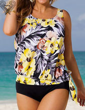 Women's sport suit large size bikini set Plus Size tankini Swimming suit For Women 2017 summer tank top bathing suit h390(China)