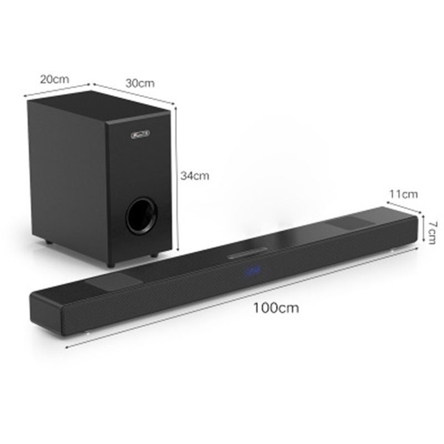 JY AUDIO A9 Bluetooth Soundbar 5.1 surround sound home theater 8 unit integrated home theater TV speaker With 8inch subwoofer 1
