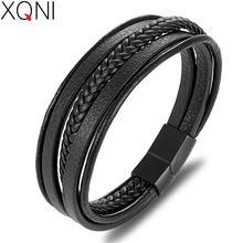Xqni мужские модные ювелирные изделия Популярные черные браслеты