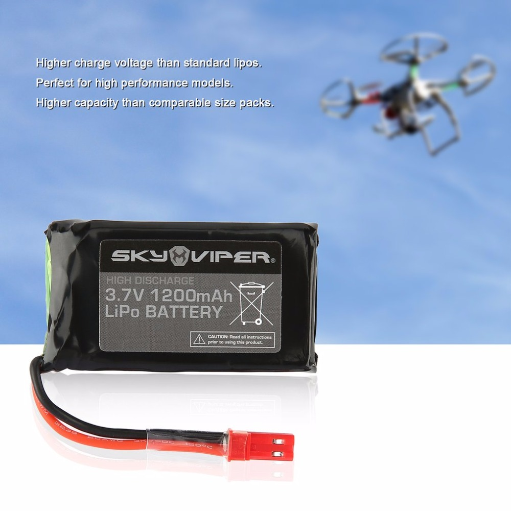 RC Drone Quadcopter Spare Parts 3.7V 1200mAh 4.44Wh LiPo Battery Suitable for RC Airplane Aircraft Helicopter Accessories Hot lipo battery 7 4v 2500mah for mjx f45 f645 t23 rc parts helicopter battery can add 3in1 charger f45 22 extra spare toys