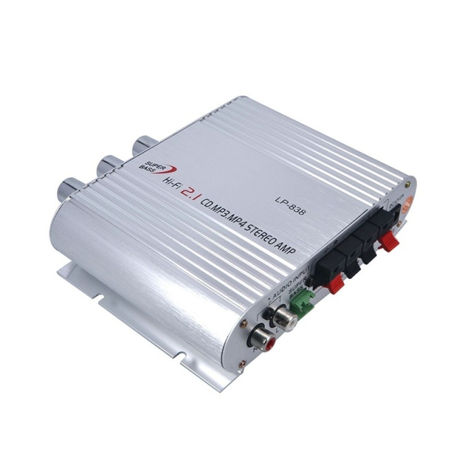 High Quality Car Amplifier LP-838 12V Smart Mini Hi-Fi Stereo Audio Amplifier for Home Car Auto MP3 MP4 Stereo Boat Motorcycle 1