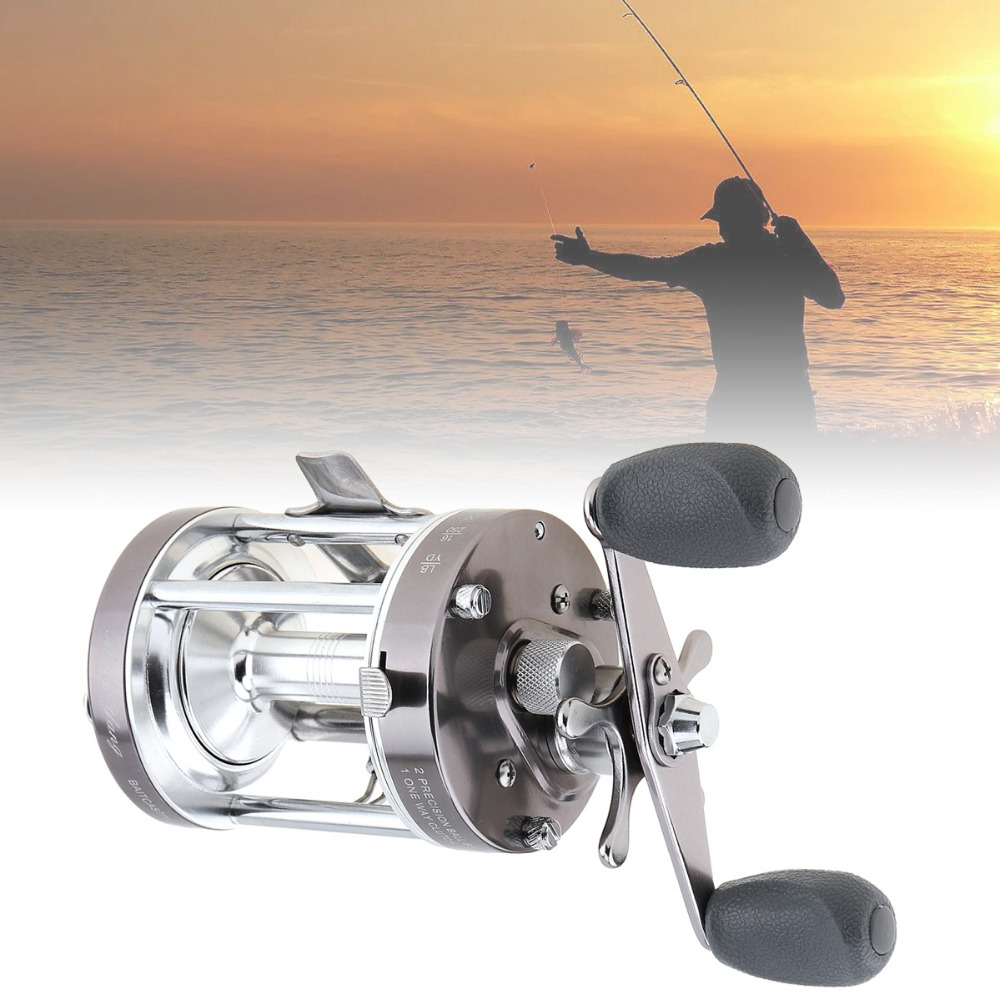 Full Metal Drum Fishing Reel Centrifugal Mekanisk Dual Braking System - Fiskeri - Foto 2