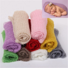 Newborn Baby 40 60CM Soft Comfortable Mohair Wrap Cloth Photography Props Multifunctional Infant Costume Outfit