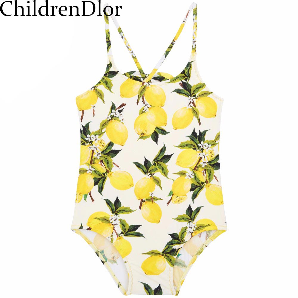 Baby Swimwear Bikini 2017 Summer One Piece Swimsuit Floral Printed Girls Children Swim Wear Toddler Bathing Suit Kids Bikini