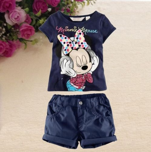 76780ca583a78 2pcs Kids Boys Girls Minnie Mouse Printed Short Sleeve Tops T Shirt Shorts  Clothes Set Outfits 1 6T-in Clothing Sets from Mother & Kids on  Aliexpress.com ...