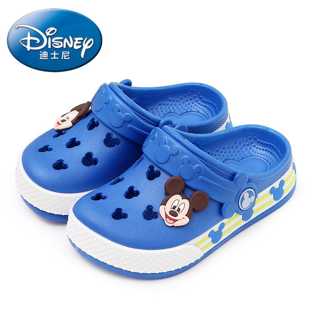 2019 Disney  Minnie children's hole shoes summer baby boy Mickey  slippers children's  beach  shoes 24-35 2