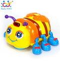 Baby Toys Infant Crawl Electric Beetle Toys Electric Toy Bee Ladybug with Music & Light Interactive Children Educational Toy