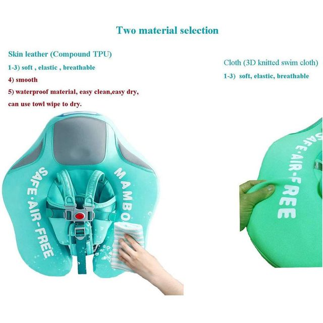 Solid No Inflatable Safety for accessories Baby Swimming Ring floating Swim ring float Suitable for 0-2-3-6 years old 5