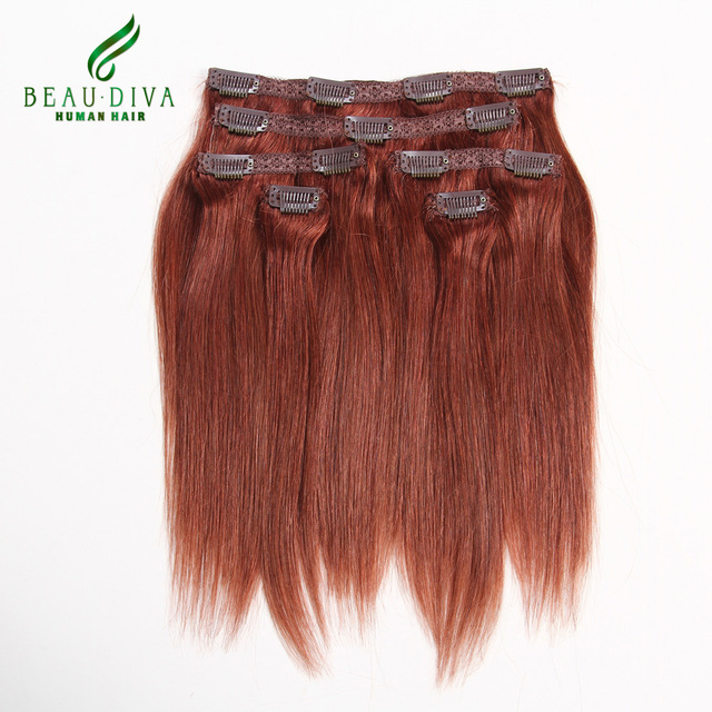 African American Clip In Human Hair Extensions 33 Clip Ins Full