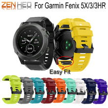 Smart Wristband 26MM Watchband For Garmin Fenix 5X 3/3HR Strap Quick Release Silicone Easyfit Wrist For Garmin Fenix 5X Bands цены