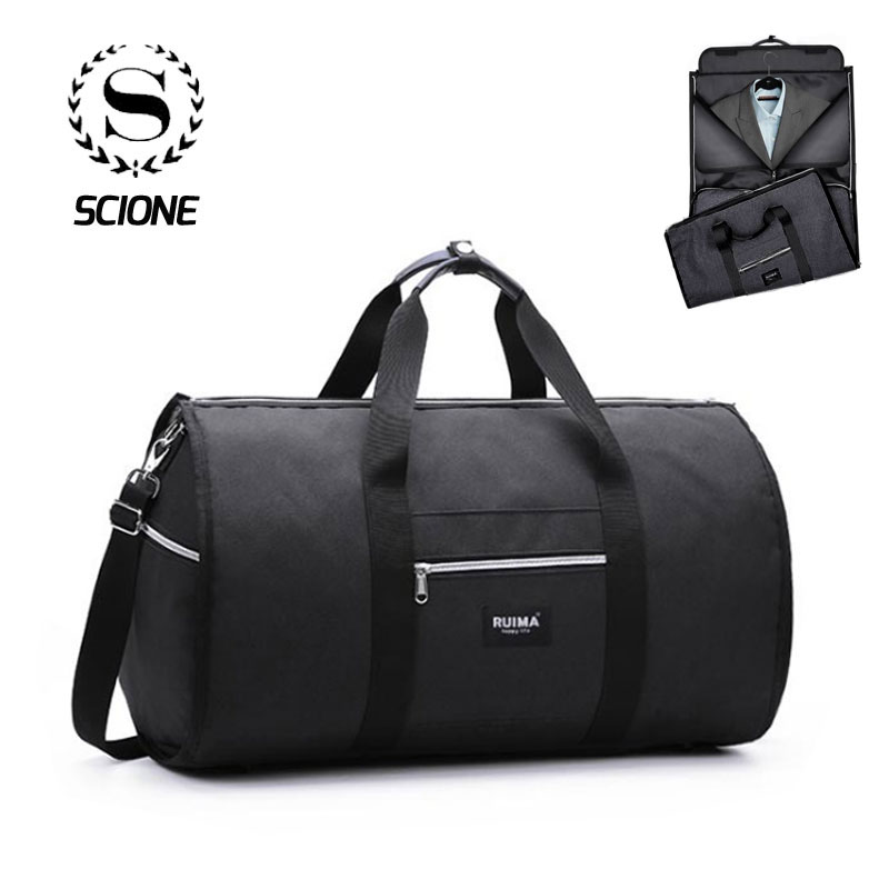 Scione Business Suit Travel Handbag Men's Multifunction Luggage Suitcase Waterproof Large Duffel Shoulder Crossbody Tote Bag