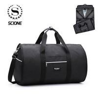 Scione Business Suit Travel Handbag Men's Multifunction Luggage Suitcase Waterproof Large Duffel Shoulder Crossbody Tote Bag