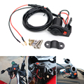 1.5m Car Motorcycle 12-24V practical cigarette lighter socket Power Plug Socket with Switch High Quality