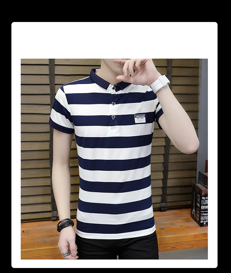 New summer high quality striped short sleeve polo shirt men brand clothing fashion Korean casual slim fit male camisa 9018Z 17