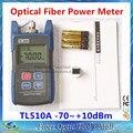 O Envio gratuito de Alta Precisão TL510A Optical Power Meter Cable Tester Redes De Fibra Óptica FC/SC conectores-70 ~ + 10dBm
