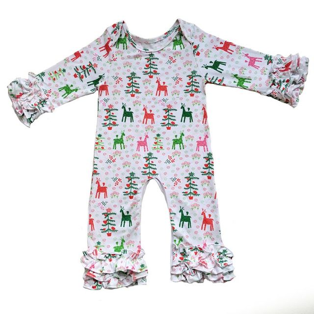 Christmas Wholesale Baby Icing Ruffle leg Romper Boutique Newborn ...