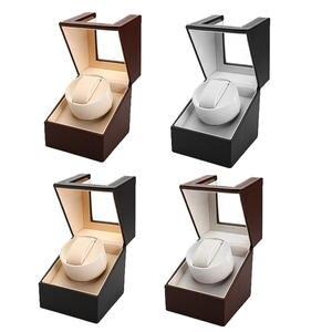 США вилка PU часы Winder коробка для часов 110 v-220 v AC часы намоточный дисплей коробка адаптер чехол для хранения автоматический вращающийся Орган...