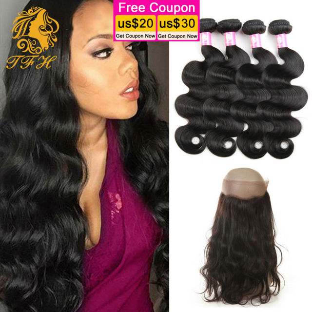 Malaysian Body Wave Hair With Closure 360 Lace Frontal 4 Bundles Ali Moda Hair With Frontal 360 Lace Virgin Hair With Bundles