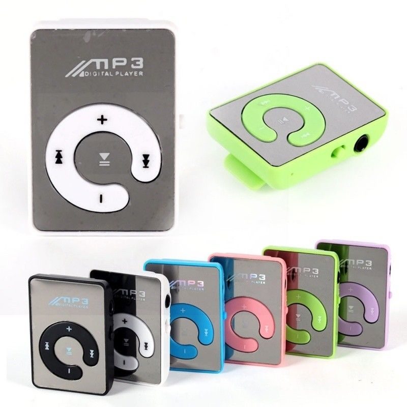Hot Mirror Clip USB Digital Mp3 Music Player Support Up 8GB SD TF Card USB image