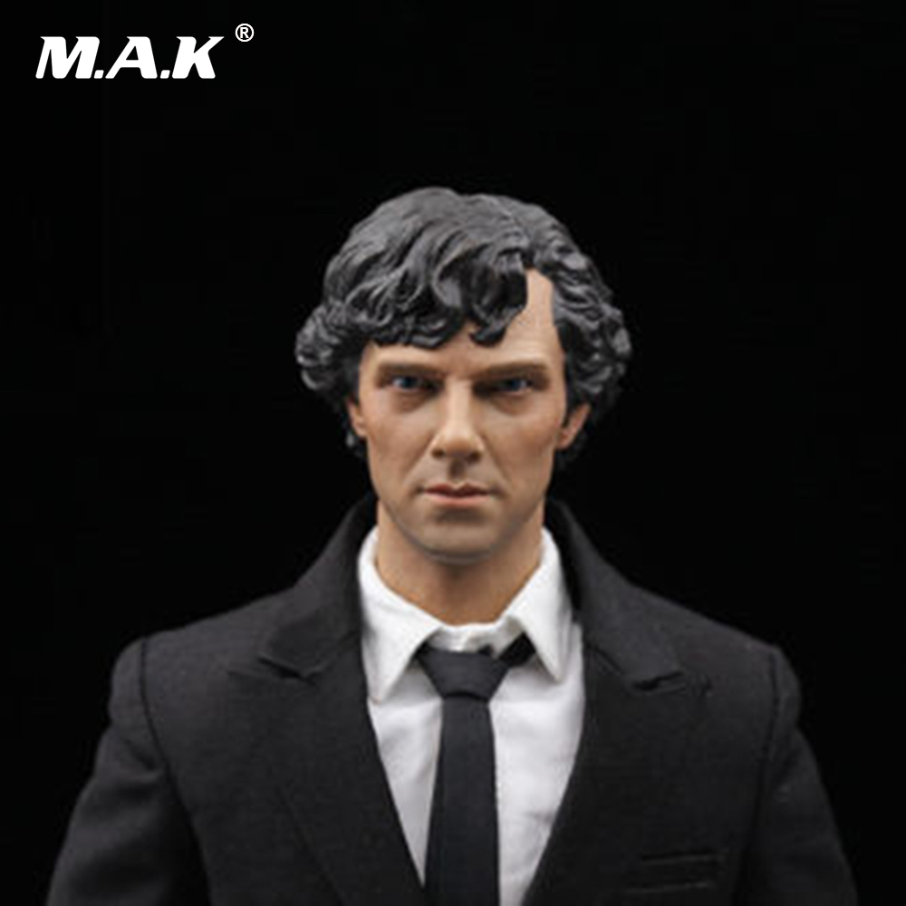 1:6 Scale Male Figure Head Sculpt Benedict Cumberbatch Sherlock Male Head Carving Model Figure Accessories F 12