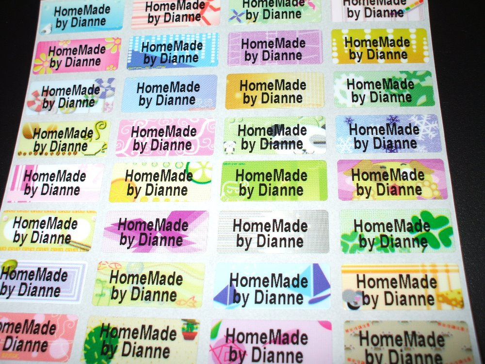 Free shipping 100 pcs mulit colorful personalized name stickers labels tag waterproof decals business labels multi purpose in stickers from home garden on
